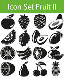 Icon Set Fruit II. With 16 icons for the creative use in graphic design stock illustration