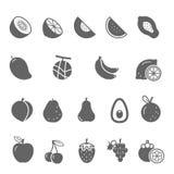 Icon set - fruit Royalty Free Stock Photos