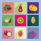 Icon Set, Fruits - Illustration Royalty Free Stock Photo