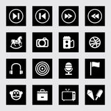 Icon set fun and entertainment Stock Images