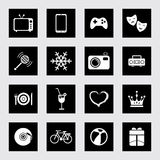 Icon set fun and entertainment Stock Photography