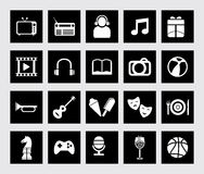 Icon set fun and entertainment Royalty Free Stock Photos