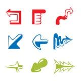 Icon Set -- funny arrow. Vector illustration - collection of funny arrows stock illustration