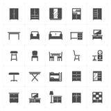 Icon set - Furniture filled icon Royalty Free Stock Photo