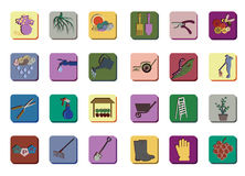 Icon set for gardening Royalty Free Stock Images