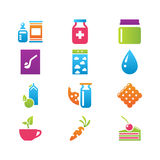 Icon set gastronomy Stock Images