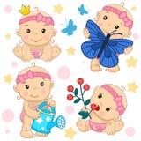 Baby girl 13 part. stock illustration