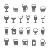 Icon set - glass and beverage Stock Photography