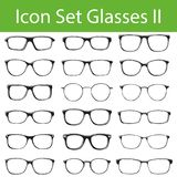 Icon Set Glasses II royalty free illustration