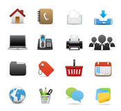 Icon set graphics Royalty Free Stock Photo