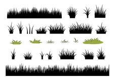 Icon set of grass: grass silhouettes set - vector illustration Stock Image