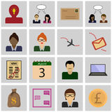 Icon set gray, square Royalty Free Stock Photography