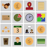 Icon set gray, square / Icons earnings/ Vector icon earnings Stock Photography