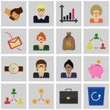 Icon set gray, square / Icons revenue/ Vector icon revenue Stock Photos