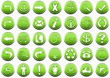 Icon Set Green 1 Royalty Free Stock Image