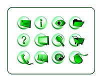 Icon Set - Green Royalty Free Stock Photography