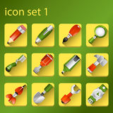 Icon set 1 Royalty Free Stock Photo