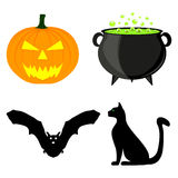 Icon set for Halloween Royalty Free Stock Image
