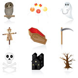 Icon set Halloween Stock Images