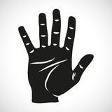 Icon Set Hand Five. For the creative use in graphic design Royalty Free Stock Image