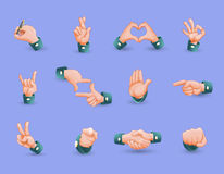 Icon Set Of Hand Gestures Royalty Free Stock Image