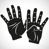 Icon Set Hand Nine. For the creative use in graphic design Stock Photos