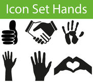 Icon Set Hands I Stock Image