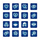 Icon set. Hearts, love, valentine Royalty Free Stock Image