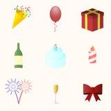 Icon set for holiday season. Stock Photos