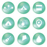 Icon set for holidays, relax, travel, weekend in vector Stock Photos