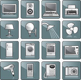 Icon set - home equipment stock illustration