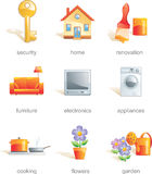 Icon set, home related items Stock Photography