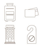 icon set of hotel service design Royalty Free Stock Images