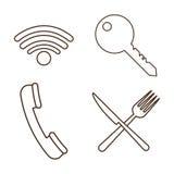 icon set of hotel service design Stock Photo