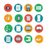 Icon set of household and computer equipment Stock Image