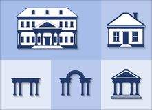 Icon set - houses. vector Royalty Free Stock Image
