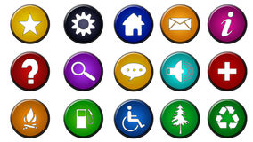 Icon Set. A set of icons for many purposes Stock Images