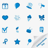 Icon set for Independence Day Stock Photo