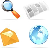 Icon set for information Stock Photography