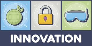 Technology and innovation design icon vector ilustration royalty free illustration