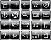 Icon set of internet Stock Photography