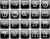 Icon set of internet. Hieroglyph style Stock Photography