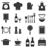 Icon set kitchen and cooking Stock Images