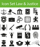 Icon Set Law and Justice Royalty Free Stock Photo