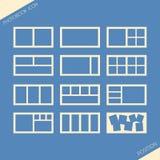 Icon set of location photos in photobook Royalty Free Stock Photos