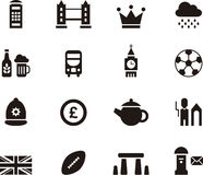 Icon set for London and Britain  Stock Images