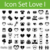 Icon Set Love Stock Photography
