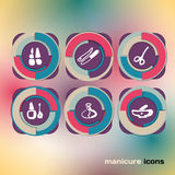 Icon set on on manicure Royalty Free Stock Photo