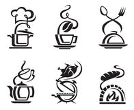 Icon set meal Royalty Free Stock Images