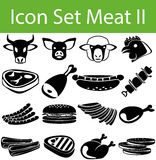 Icon Set Meat II Stock Images
